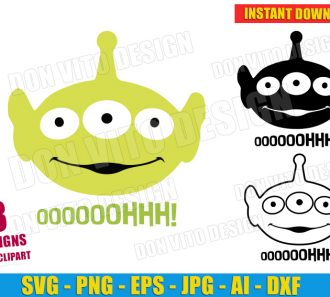 Alien Toy Story Head Bundle (SVG dxf png) SVG cut files PNG image vector clipart - DonVitoDesign Store