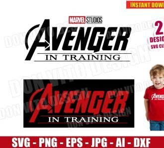 Avenger in Training Logo (SVG dxf png) SVG cut files PNG image vector clipart - DonVitoDesign Store
