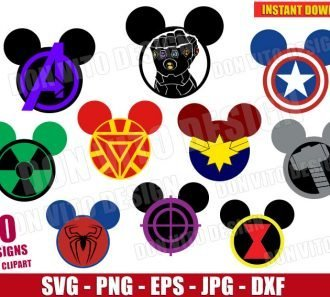 Avengers Endgame Mickey Head Bundle (SVG dxf png) cut files png image vector clipart - DonVitoDesign Store