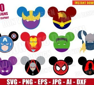 Avengers Endgame Mickey Head (SVG dxf png) SVG cut files PNG image vector clipart - DonVitoDesign Store