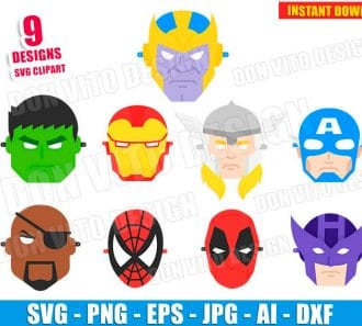 Avengers Mask (SVG dxf PNG) SVG cut files PNG image vector clipart - DonVitoDesign Store