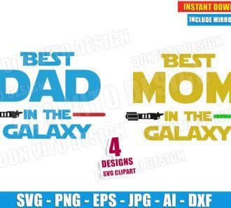 Best DAD & MOM in the Galaxy (SVG dxf png)cut files PNG image vector clipart - DonVitoDesign Store