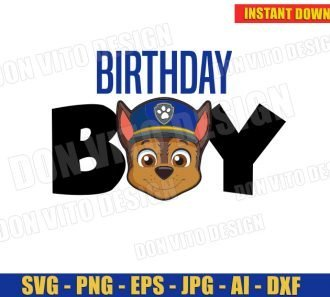Birthday Boy Chase Face (SVG dxf png) SVG cut files PNG image vector clipart - DonVitoDesign Store