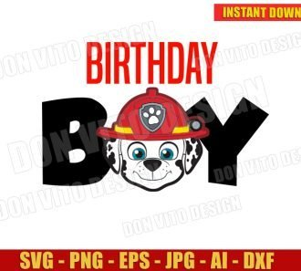 Birthday Boy Marshall Face (SVG dxf png) SVG cut files PNG image vector clipart - DonVitoDesign Store