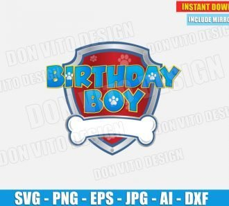 Birthday Boy Paw Patrol Logo (SVG dxf png) SVG cut files PNG image vector clipart - DonVitoDesign Store