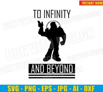 Buzz Lightyear - To Infinity and Beyond SVG dxf png cut files image vector clipart - DonVitoDesign Store -