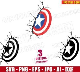 Captain America Shield (SVG dxf png) SVG cut files PNG image vector clipart - DonVitoDesign Store