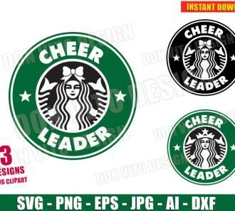 Cheerleader Starbucks Logo (SVG dxf png) SVG cut files PNG image vector clipart - DonVitoDesign Store