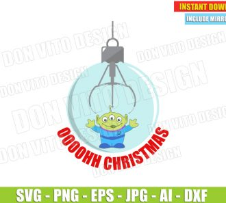 Christmas Alien Toy Story Quote (SVG dxf png) -cut files PNG image vector clipart - DonVitoDesign Store