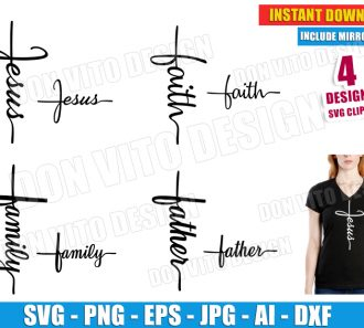 Cross Jesus Faith Family Father (SVG dxf png) cut files PNG image vector clipart - DonVitoDesign Store