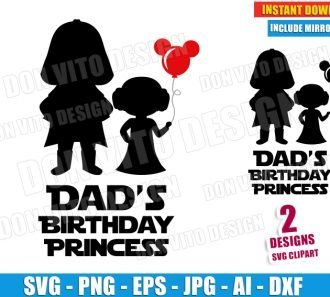 Dad's Birthday Princess (SVG dxf png) cut files PNG image vector clipart - DonVitoDesign Store