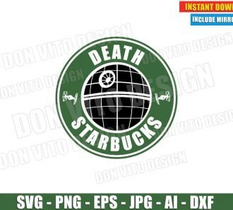 Death Star Starbucks Logo Coffee (SVG dxf png) cut files PNG image vector clipart - DonVitoDesign Store
