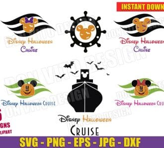 Disney Halloween Cruise Logo (SVG dxf png) cut files png image vector clipart - DonVitoDesign Store