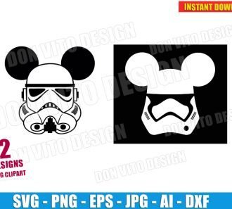 Disney Star Wars Stormtrooper (SVG dxf png) cut files PNG image vector clipart - DonVitoDesign Store