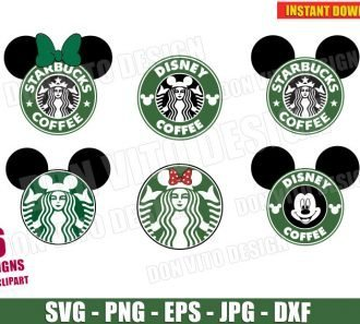 Disney Starbucks Coffee Logo Bundle (SVG dxf png) cut files png image vector clipart - DonVitoDesign Store