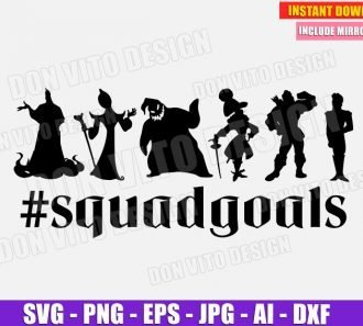 Disney Villains #SquadGoals (SVG dxf png) SVG cut files PNG image vector clipart - DonVitoDesign Store