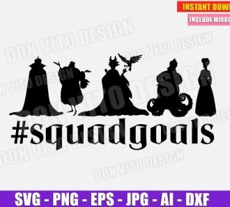 Disney Villains SquadGoals (SVG dxf png) SVG cut files PNG image vector clipart - DonVitoDesign Store