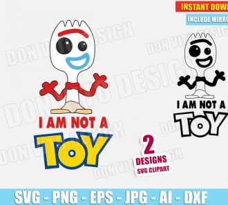 Forky Toy Story 4 - I am not a Toy (SVG dxf png) SVG cut files PNG image vector clipart - DonVitoDesign Store