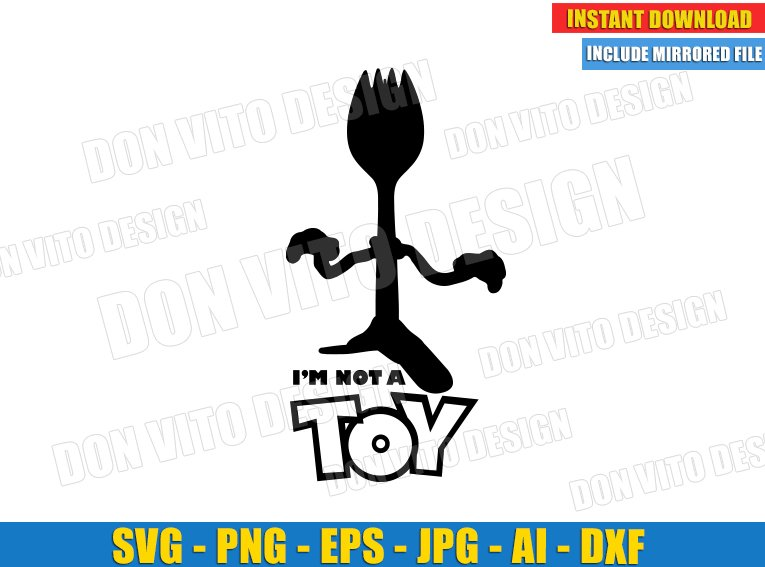 Forky Toy Story 4 (SVG dxf png) SVG cut files PNG image vector clipart - DonVitoDesign Store