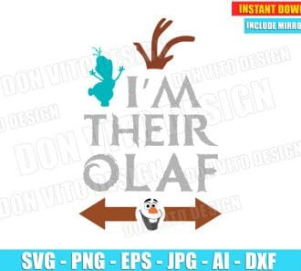 Frozen I'm their Olaf (SVG dxf png) SVG cut files PNG image vector clipart - DonVitoDesign Store