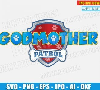 GodMother Paw Patrol Logo (SVG dxf png) cut files PNG image vector clipart - DonVitoDesign Store