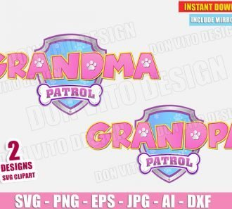 Grandma & Grandpa Paw Patrol Birthday Party (SVG dxf png) SVG cut files PNG image vector clipart - DonVitoDesign Store