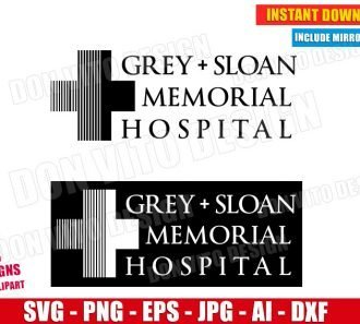 Grey's Anatomy TV Show (SVG dxf png) SVG cut files PNG image vector clipart - DonVitoDesign Store