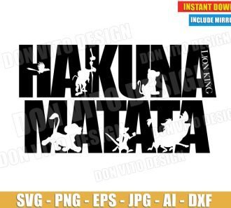 Hakuna Matata Logo (SVG dxf png) SVG cut files PNG image vector clipart - DonVitoDesign Store