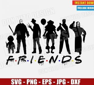 Halloween Friends Logo (SVG dxf png) cut files png image vector clipart - DonVitoDesign Store