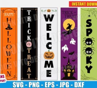Halloween Porch Sign (SVG dxf png) cut files png image vector clipart - DonVitoDesign Store