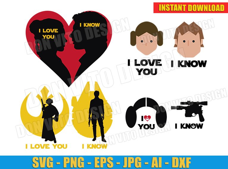 Download I Heart You / Svg Dxf Png Eps Cutting File Silhouette Cricut Design