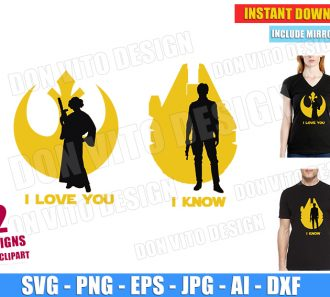 I Love You - I Know (SVG dxf png) cut files PNG image vector clipart - DonVitoDesign Store