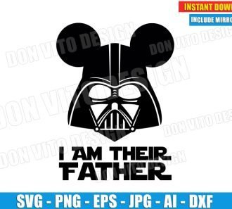 I am Their Father (SVG dxf png) cut files PNG image vector clipart - DonVitoDesign Store