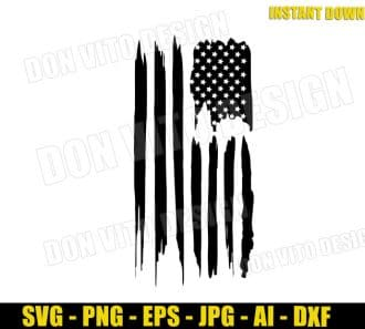 American Flag (SVG dxf png) cut files PNG image vector clipart - DonVitoDesign Store