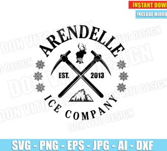 Arendelle Ice Company Est 2013 Frozen (SVG png) cut files png image vector clipart - DonVitoDesign Store