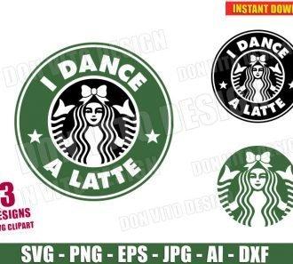 Starbucks I DANCE A LATTE Logo (SVG dxf png) cut files png image vector clipart - DonVitoDesign Store