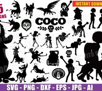 Coco Bundle (SVG dxf png) cut files png image vector clipart - DonVitoDesign Store