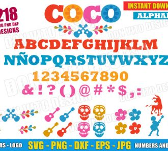 Coco Full Alphabet Logo Symbols (SVG dxf png) cut files png image vector clipart - DonVitoDesign Store