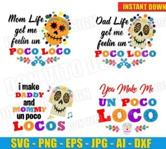 Coco Poco Loco Bundle (svg dxf png) cut files PNG image vector clipart - DonVitoDesign Store