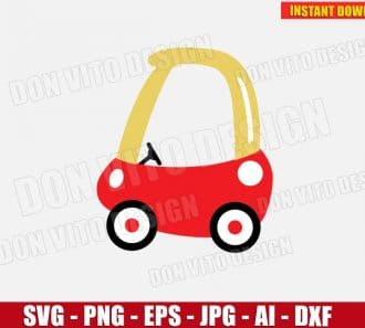 Cozy Coupe (SVG dxf png) cut files PNG image vector clipart - DonVitoDesign Store