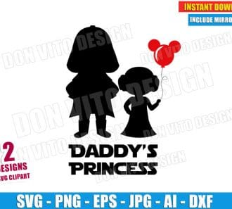Daddy's Princess Star Wars (SVG dxf png) cut files PNG image vector clipart - DonVitoDesign Store
