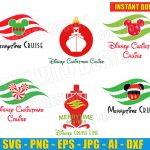 Disney Christmas Cruise Line Bundle (SVG dxf png) Mickey Mouse Vector Clipart Cut Files Silhouette Cricut Ship Ears T-Shirt Santa Hat Flag