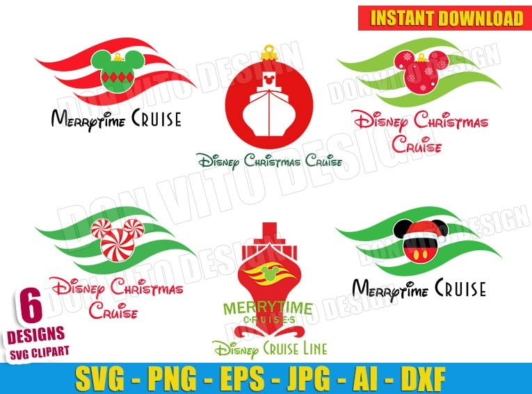 Disney Christmas Cruise Line Bundle (SVG dxf png) cut files png image vector clipart - DonVitoDesign Store