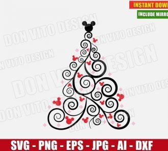Disney Christmas Tree (SVG dxf png) cut files png image vector clipart - DonVitoDesign Store