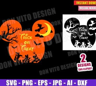 Disney Halloween Mickey Head Ears (SVG dxf png) cut files png image vector clipart - DonVitoDesign Store