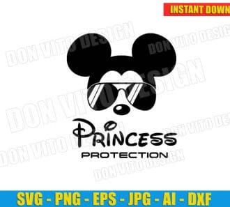 Disney Princess Protection (SVG dxf png) cut files PNG image vector clipart - DonVitoDesign Store