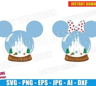 Disney Snow Globe Christmas (SVG dxf png) cut files png image vector clipart - DonVitoDesign Store