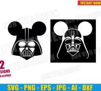 Disney Star Wars Darth Vader (SVG dxf png) cut files png image vector clipart - DonVitoDesign Store