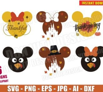 Disney Thanksgiving Day Clipart (SVG dxf png) cut files png image vector clipart - DonVitoDesign Store