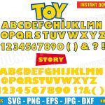 Toy Story Alphabet Vector Clipart (SVG png) Disney Pixar Movie Full Letters Numbers Silhouette Cricut Decal Stencil Vinyl Birthday Party DIY